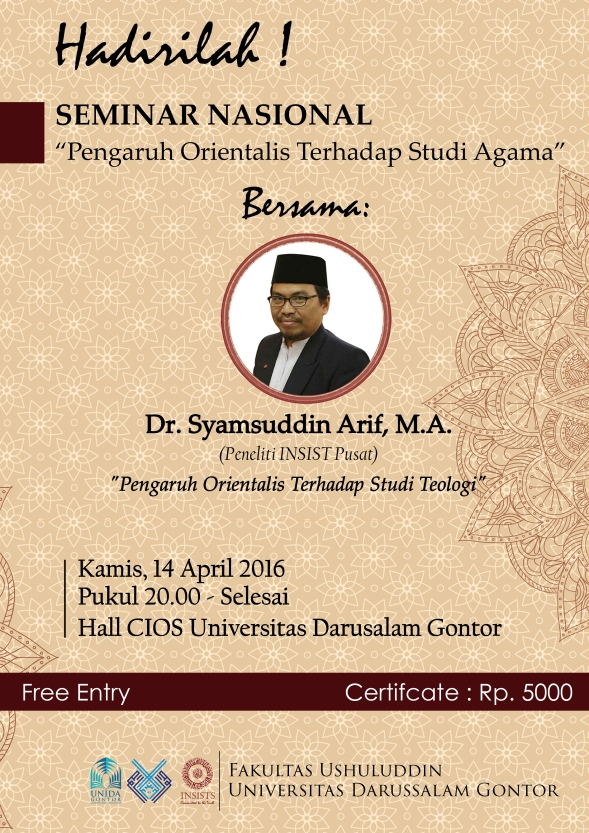 Poster Seminar Orientalisme
